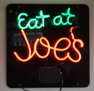 Eat At Joe's Neon sign