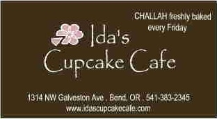 Ida's Cupcakes business card