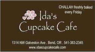 Ida's Cupcakes business card