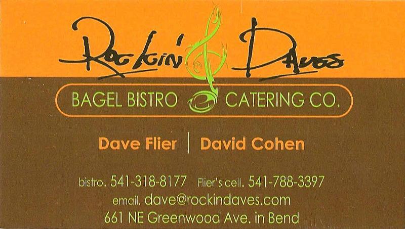 Rockin' Daves Bagel Bistro Ad