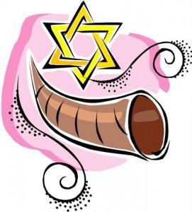 shofar and star