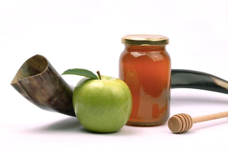 shofar apple honey jar photo