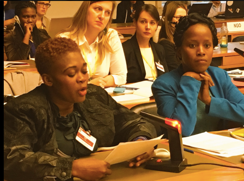 Soinette Desir of UFMORH presents to CEDAW committee