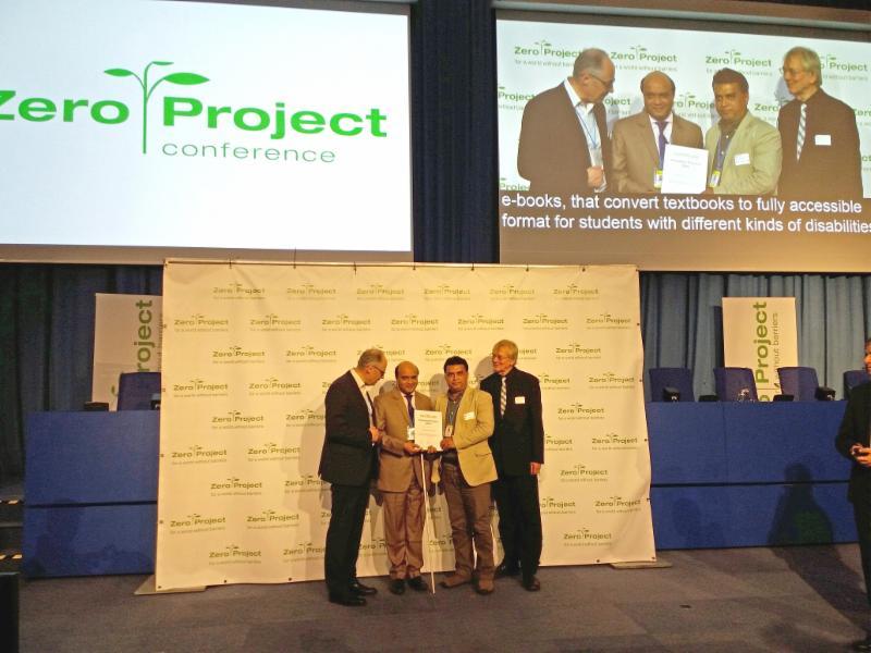 Vashkar Bhatacharjee of YPSA receives award _photo_