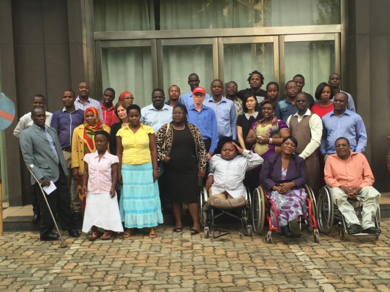 Participants from Rwanda and Malawi pose _photo_
