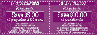 Aronia Month Coupon