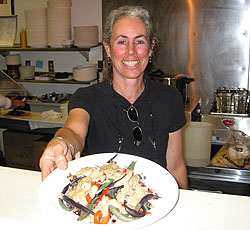 Jill Nusinow with Veggies