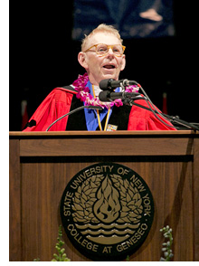 Bill Cook at commencement