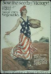 Vintage WWII Victory Garden Poster