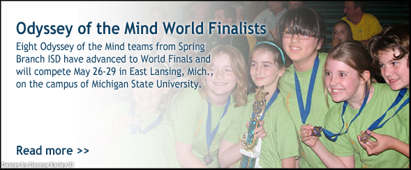 Odyssey of the Mind Finalists
