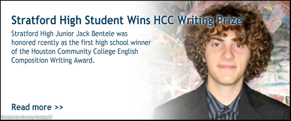 Stratford Student Wins Writing Prize