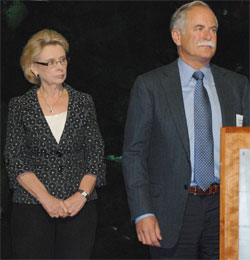 Gov. Chris Gregoire and Commissioner of Public Lands Peter Goldmark