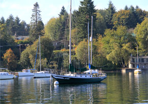 Boats in Dockton, Quartermaster Harbor