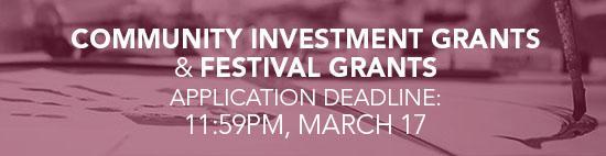 Grant applciation deadline_ March 17_ 2016