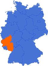 Map of the  Palatinate