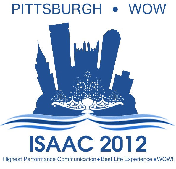 ISAAC 2012 logo with Pittspburgh cityscape.