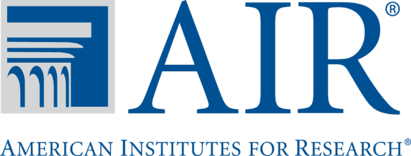 AIR logo: American Institutes for Research. Shows a Greek ionic column.