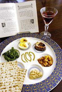 Seder Plate and Matzah