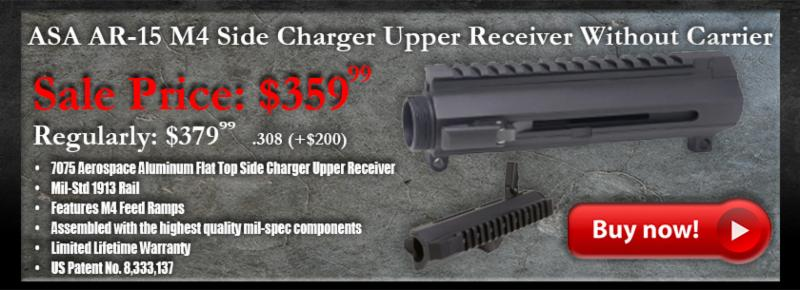 Why choose the ASA Side Charger Upper Receiver? Side