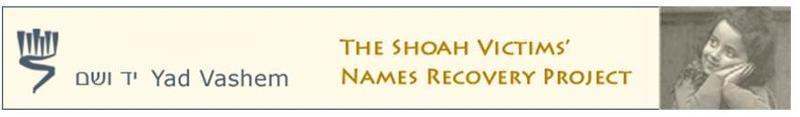 shoah names project