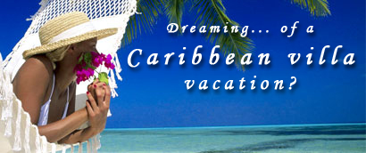 Woman in hammock dreaming of Caribbean villa