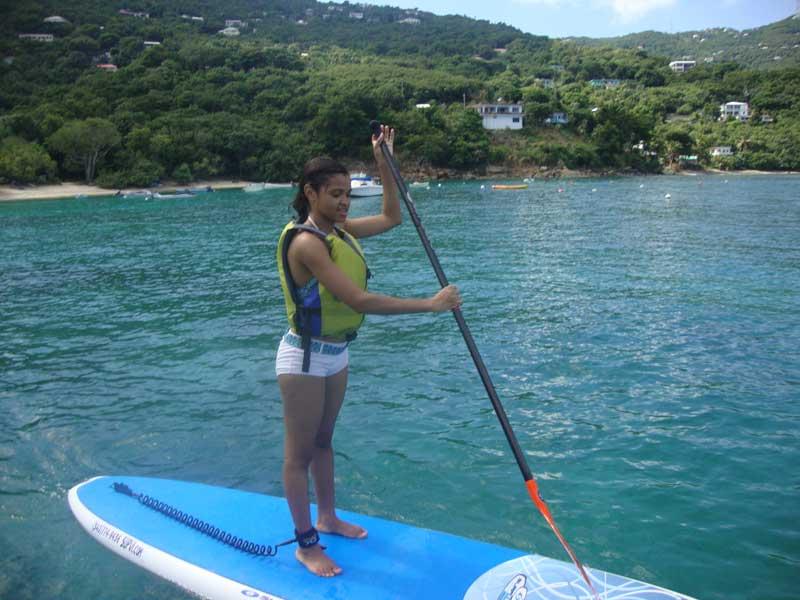 Luanda on the paddle board