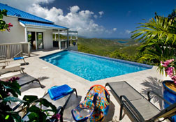Pool deck at Mango Hill Great House