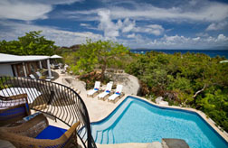 Virgin Gorda villa On the Rocks deck view