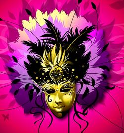 Purple carnival mask clip art