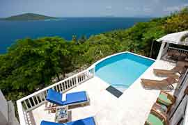 Pool at Bliss villa, St. Thomas