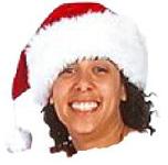 Smiling female Santa
