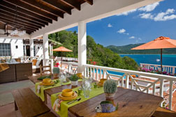 Casa Lupa's covered deck