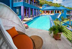 Pool deck at Mare Blu