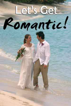 Island wedding on the beach
