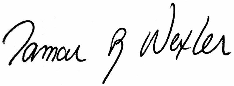 Tamar's signature
