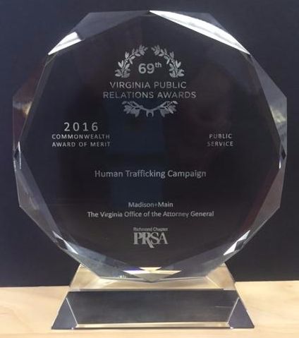 photo of the VA public relations award