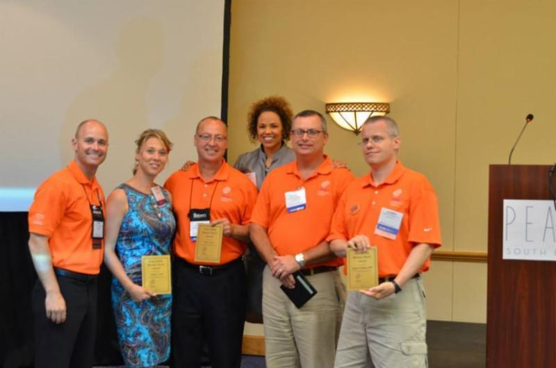 The William G. Follmer Bronze Award was awarded to Cynthia Gray (secretary), Clint Owen, Shawn Barnett (social Chair), Joe Topinka (certification Chair)