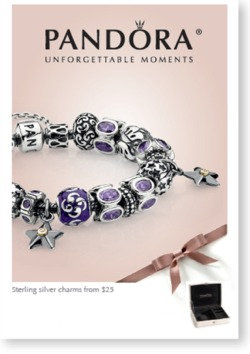 Pandora jewelry ad