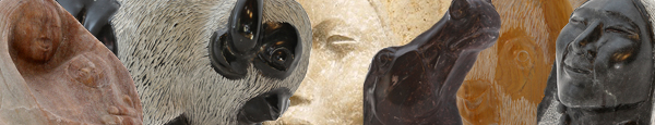 Images of Duane Goodwin's stone sculptures