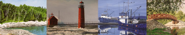 montage of art by Rick Lundsten