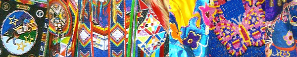 details of regalia created by Dana Goodwin and Dennis Williams