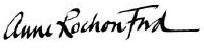 Anne Rochon Ford signature