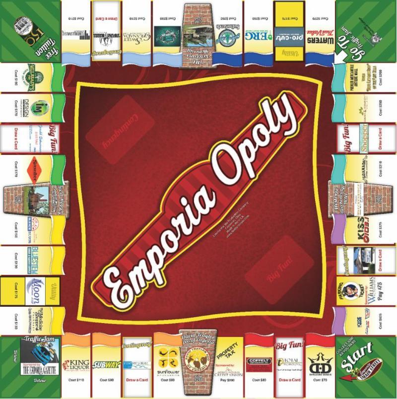 Emporia Opoly Game Board
