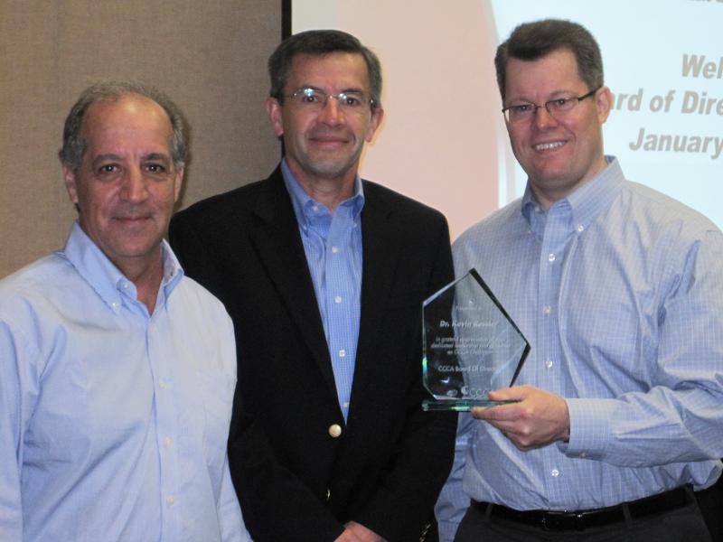Award presentation to Kevin Ressler