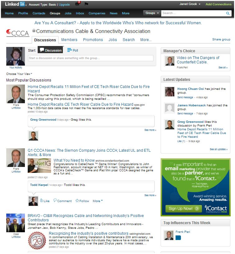 CCCA LinkedIn page