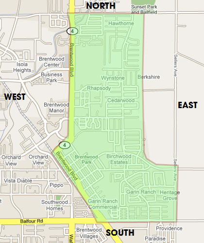 Area to be fogged in Brentwood