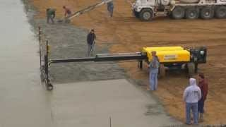75,000 sq foot pour