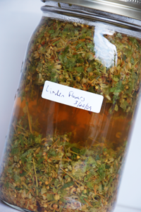 Organic Linden leaf and flower extract made fresh