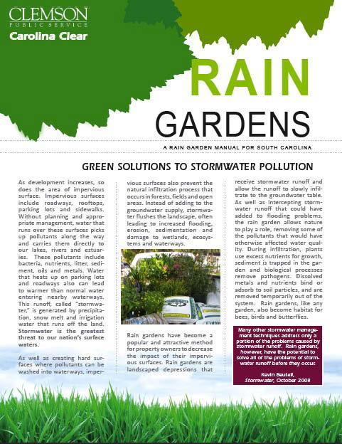 rain garden manual cover
