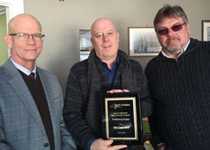 Kevin O_Connor_ Guy Kempe_ Chuck Snyder_ NYSERDA Trailblazer Award